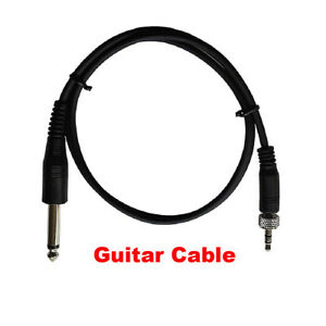 guitar cable for sennheiser wireless 1 8 to 1 4 inch instrument audio cable 699939954821 ebay. Black Bedroom Furniture Sets. Home Design Ideas