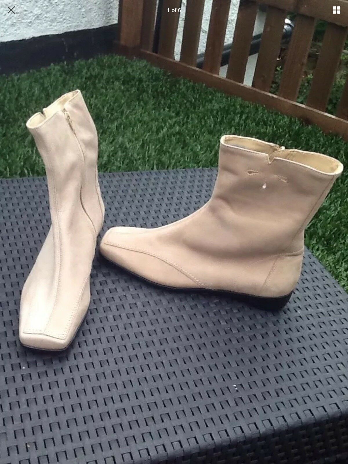 NEW WOMENS LADIES  BEIGE SUEDE SIZE 7 41 ANKLE BOOTS