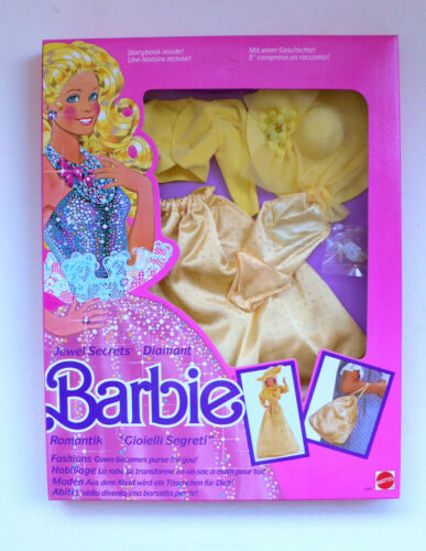 Vintage Mattel Barbie Jewel Secrets Fashions 1861 Yellow Dress MIB 1986