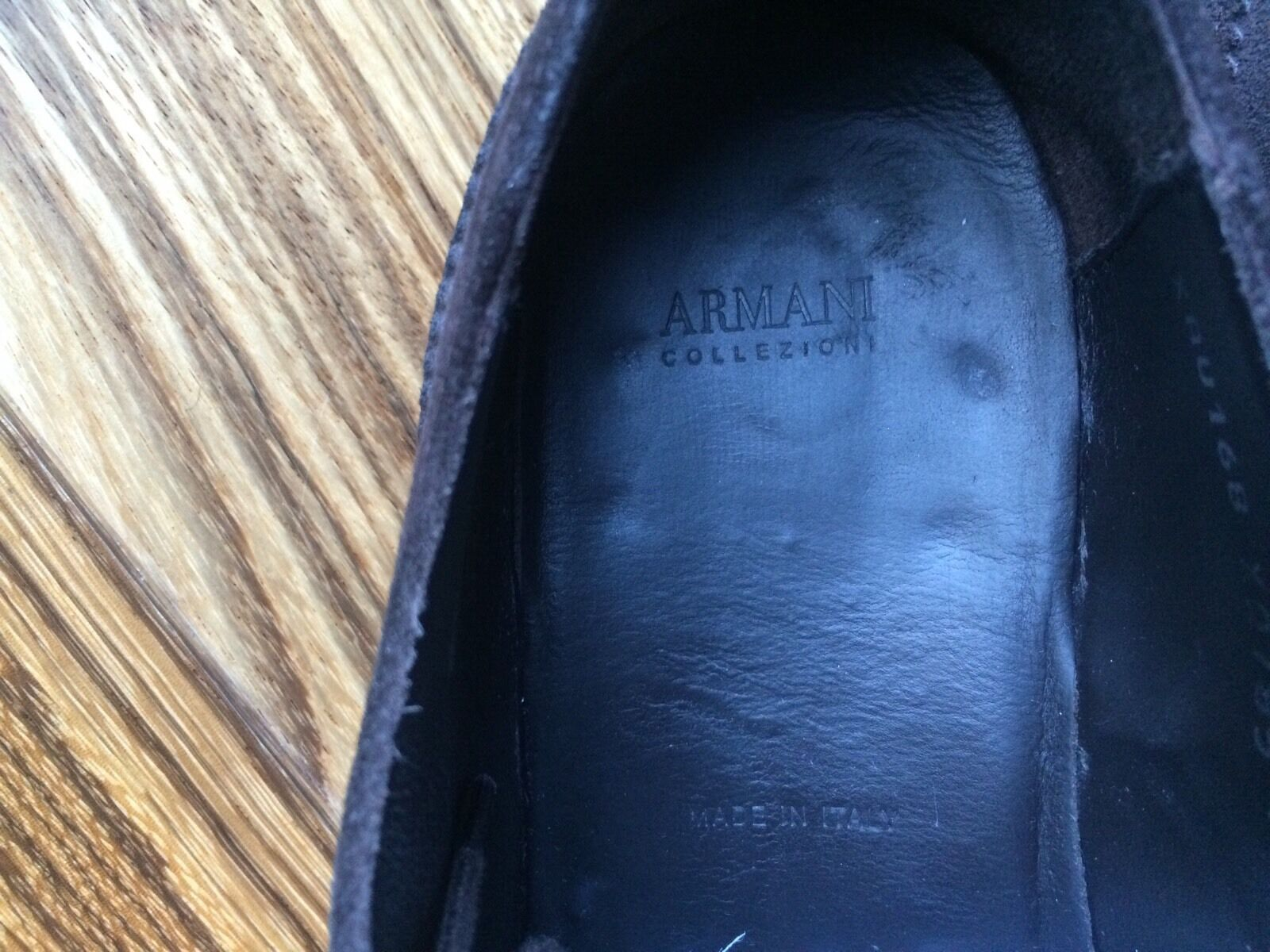 Original ARMANI COLLEZIONI  Budapester Schuhe  Wildleder Gr.41 Gr.41 Wildleder UK 7 TOP MODEL 6f4149