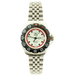7b3cac702ca TAG HEUER PROF 371.508 FORMULA 1 GRAY RED DIAL 200M STAINLESS STEEL ...