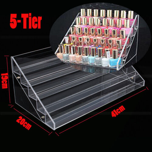 Nail Polish Varnish Display Acrylic Lip Stick Shop Retail Holder Rack Stand New