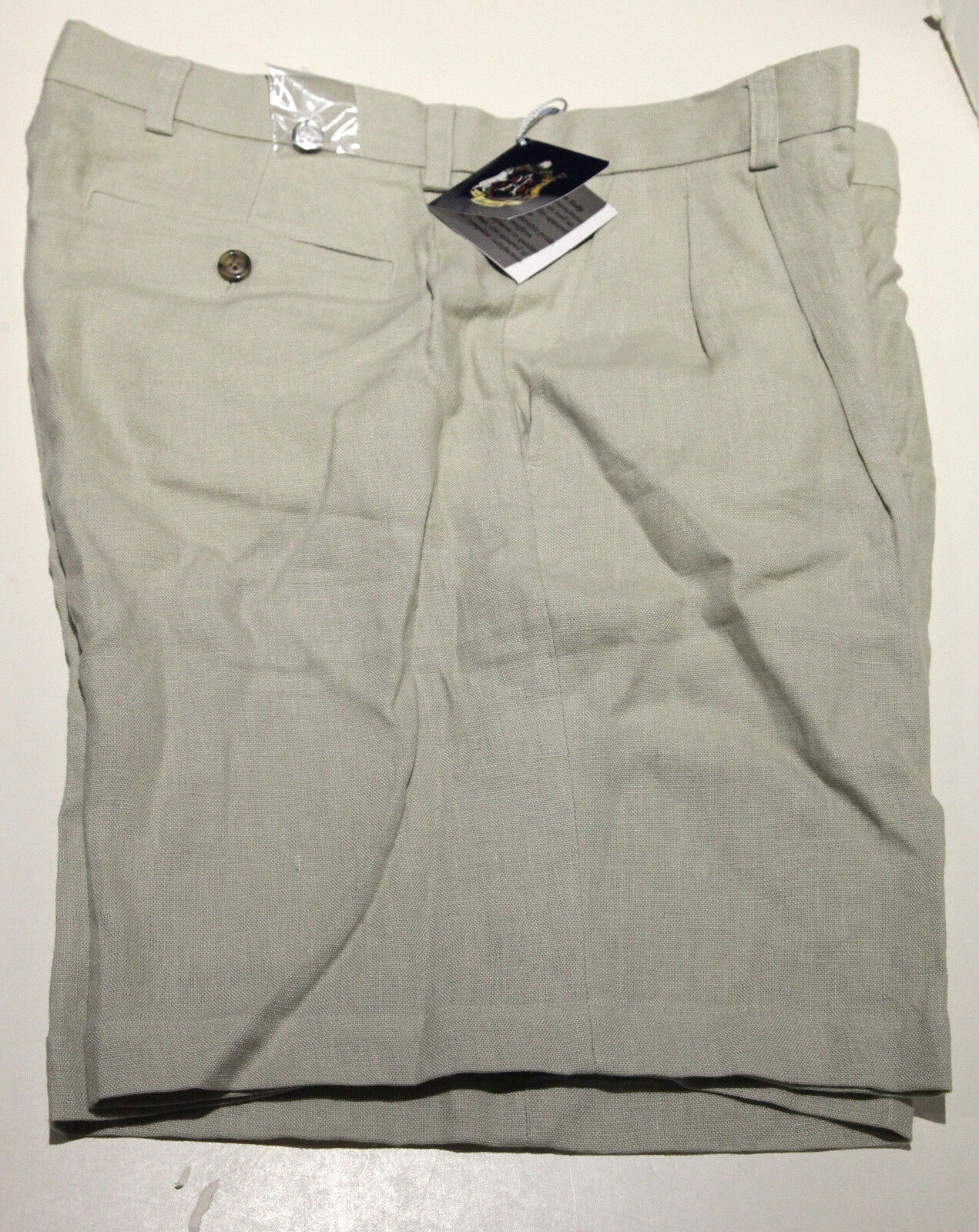 NWT Men's Allen Solly 100% Linen Pleated Shorts W36 Free Shipping