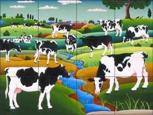 Cow-Tile-Backsplash-del-Rio-Ceramic-Country-Life-Pasture-Art-Mural-POV-RR002