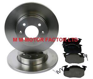 Peugeot 106 1.1 4 stud Front Drilled Grooved Brake Discs 96