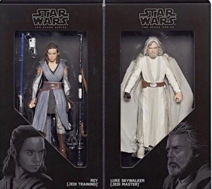 2017 San Diego comic-con Exclusive Noir Hasbro Série Maître Jedi Luke et apprenti Rey