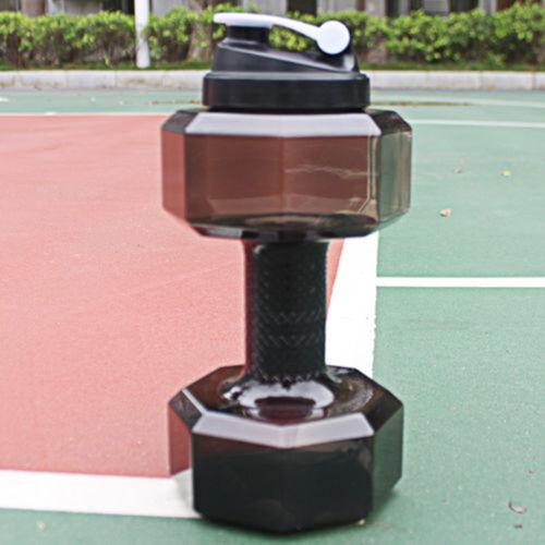 2.2L PETG Dumbbells Large Drink Water Bottle Sports Running Fitness Kettle Gym