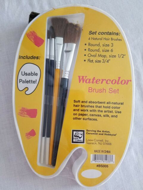 Lowe Cornell 2022 SET OF 3 NATURAL HAIR ACRYLIC WATERCOLOR STAIN BRUSHES PAINT