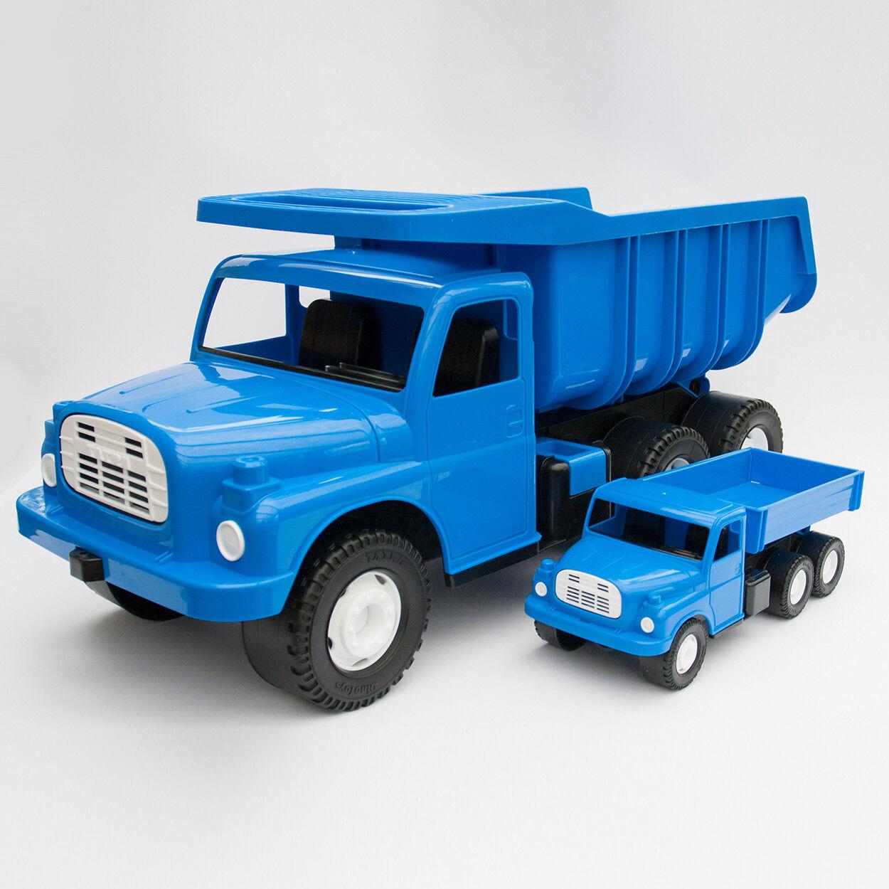 TATRA 148 LKW Spielzeug-Set blau 72&30cm - DDR CSSR-Retro Sandspielzeug