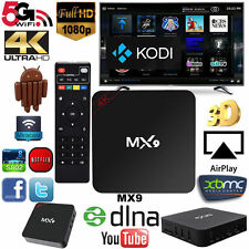 MX9 4K 2K 1080P Smart TV BOX XBMC/Kodi H.265 Android Quad Core WiFi Mini PC NEW