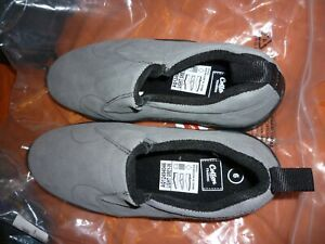 Ladies Shoes Unisex Cotton Traders Suede Slip on Shoes , Light Grey, size 6 (UK)