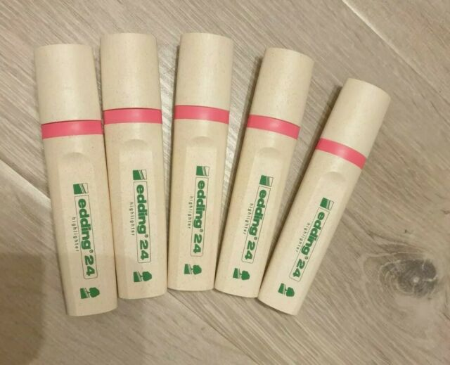 Edding Textmarker Highlighter 24 Ecoline, Nachfüllbar, 5x pink umweltfreundlich