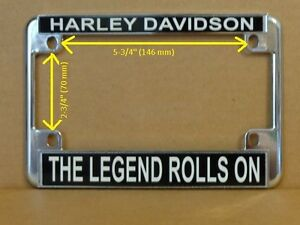 image is loading harley davidson motorcycle license plate frame the legend