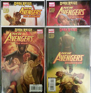 New-Avengers-The-Reunion-1-4-Set-amp-1-Variant-VF-NM-1st-Print