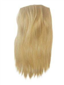 Demi-Perruque-Clip-In-5-Attache-Blond-Miel-Dore-Lisse-50cm-HD1401-611B