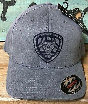 Ariat Mens Hat Baseball Cap Snap Closure Logo Patch Grey A300001306
