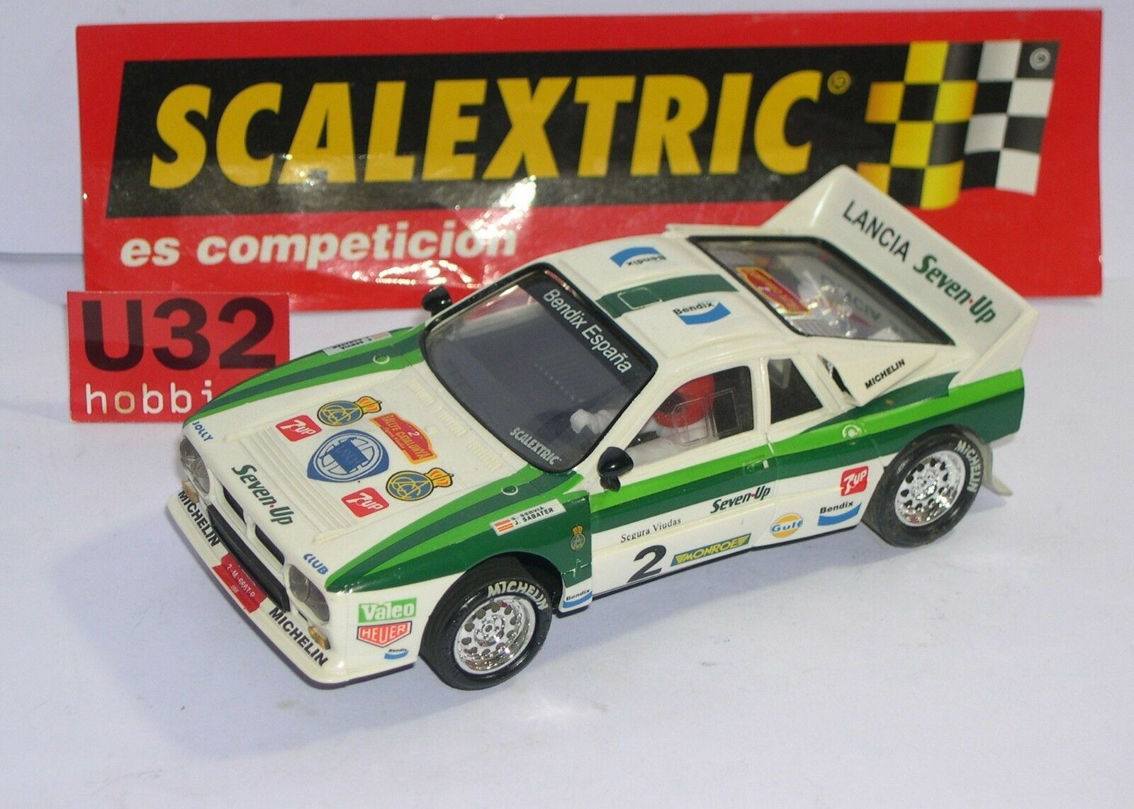SCALEXTRIC SPAIN ALTAYA DUELS MYTHICAL LANCIA 037 SEVEN UP SERBIAN-SABATER