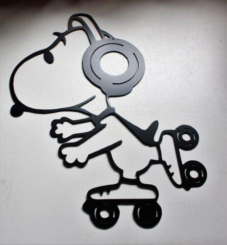 Skating Snoopy Metal Wall Art