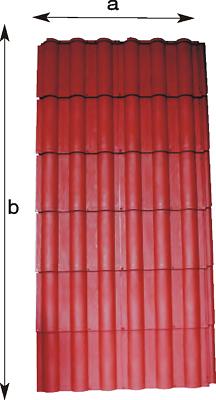 Heimwerker Kunststoff Dachziegel Dachelement Kunststoff 1m Brt X 2m Lg.leicht-nur 6.-kg Sparen Sie 50-70% Baustoffe & Holz