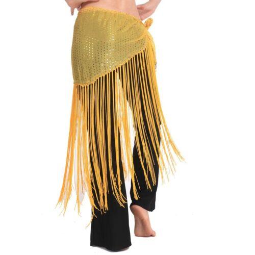 Hawaiian Hula Skirt Frings Belly Dance Costume Tribal Tassel Hip Scarf wrap Belt