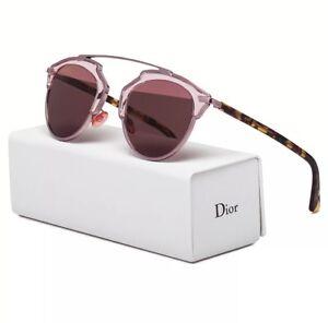 5b44b3add0 NEW! Christian Dior So Real Pink Blonde Havana Mirrored SUNGLASSES ...