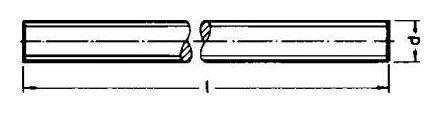 Gewindestange DIN 976 Edelstahl A2 M3 x 1000 mm