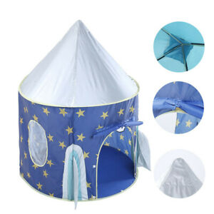 Camping-Folding-Kids-Baby-Play-Rocket-Ship-Tent-In-Outdoor-Boys-Girls-Toy-House
