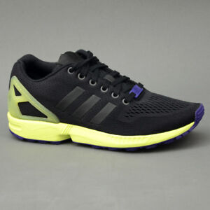 Caricamento dell immagine in corso Adidas-ZX-FLUX -AF6318-Nero-Giallo-mod-AF6318 74aac3fe694