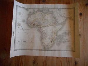 Rare Carte Terrestre Ancienne Afrique.par M.lapie.1831. RéTréCissable
