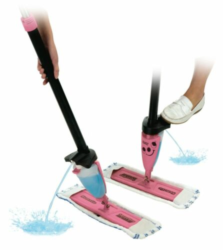 HETTY MICROFIBRE FLOOR CLEANING Manual Spray Mop Mopping Pink Numatic 629349
