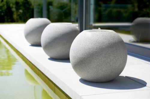 Esteras-Fontaine LED nature Elite Meco granitgrau outdoorbrunnen balle puits