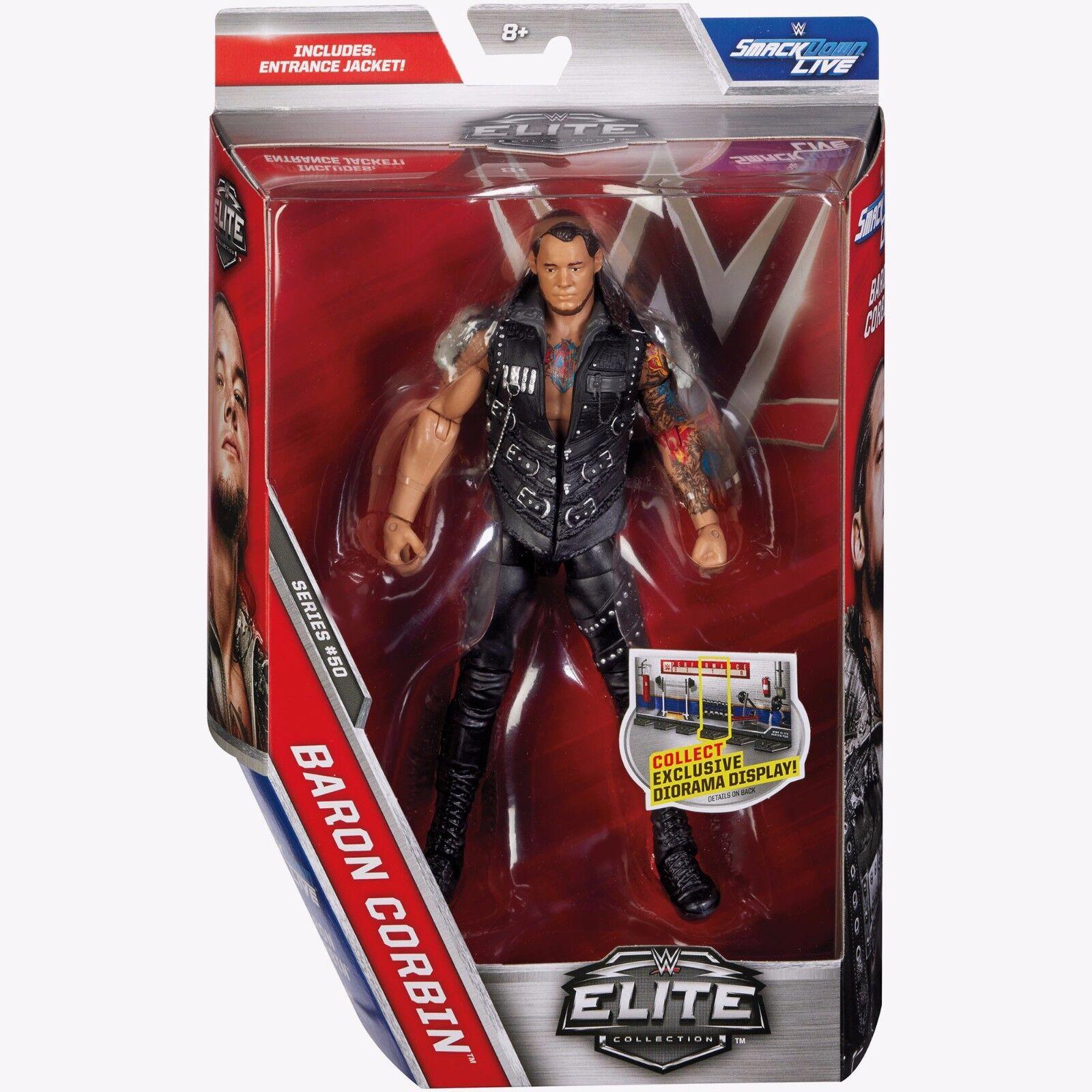 Wwe Série Elite 50  Baron Corbin The Lone Loup Raw Wwf Lutte Mattel Figurine  wholesape pas cher