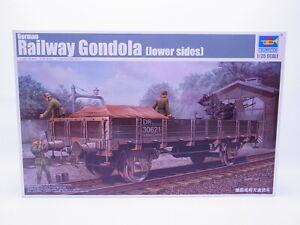 66395-Trumpeter-01518-German-Railway-Gondola-Lower-Sides-Kit-1-3-5-New-Boxed