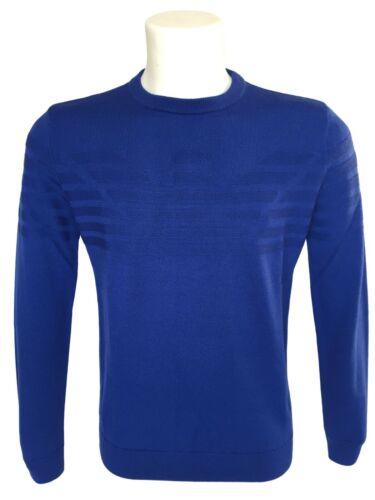 Armani Lana In 6z1mya Bluette 50 Art Sconto Pullover Vergine Emporio BpwPp