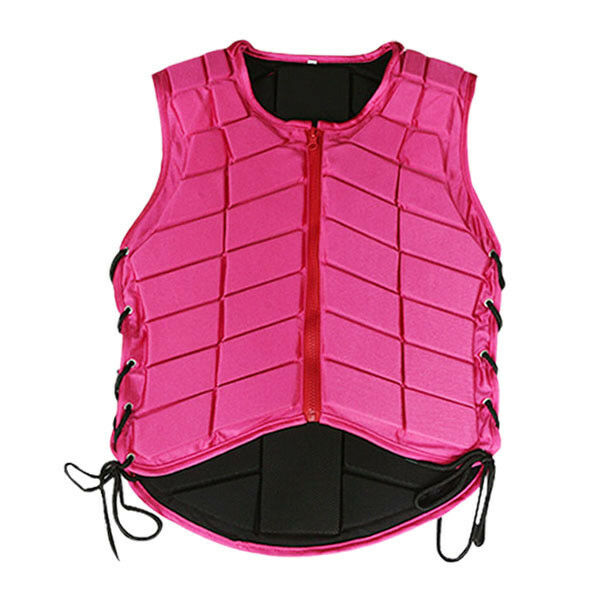 Horse Riding Vest Equestrian Body Predector Safety EVA Pad Adjustable Waistcoat