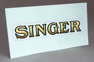 PRE CUT SINGER LID WATER SLIDE DECAL for SEWING MACHINE RESTORATION