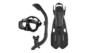 Head Tarpon2/Barracuda Volo Mask Snorkel Fins Set Scuba Diving Snorkeling Black