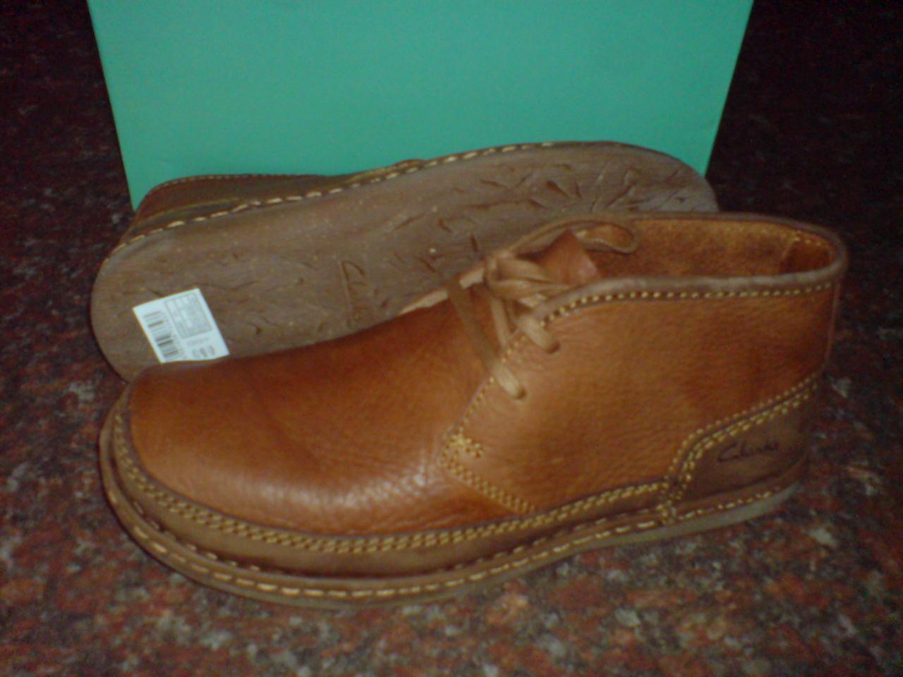 New Clarks  Mens  RISHTON HEIGHT BOOTS  TOBACCO  UK 8,9,10