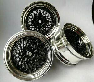 Rc Car 1//10 Drift Y Spoke Rims Wheels 3mm Offset fits Tamiya HPI BLUE 12mm hex