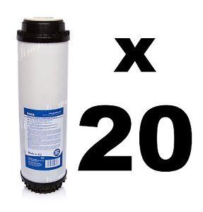 """20 X Filtre à Charbon Actif 10 """", Filtre à Eau, Osmose Inverse, Ro.fcca-a Fr-fr Afficher Le Titre D'origine"""