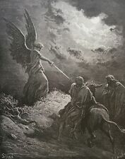 Israël Balaam arrêté par un ange Gustave Doré 1874