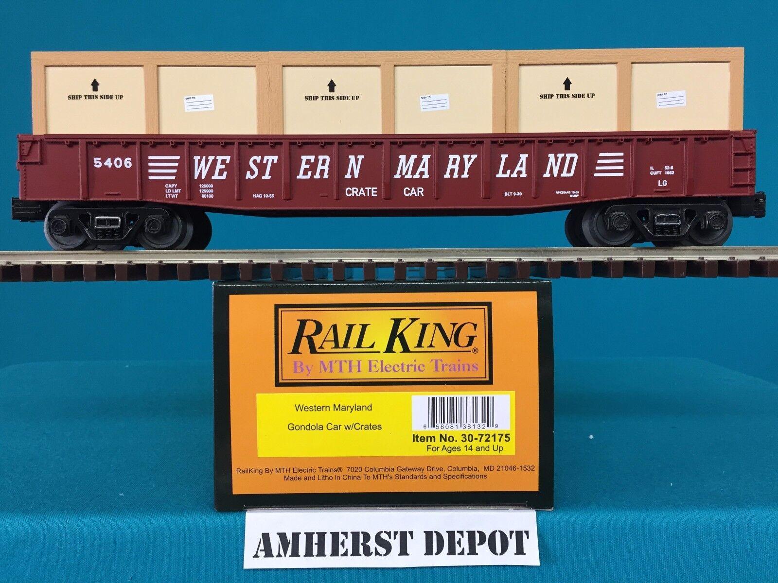 Mit railking gondel westlichen maryland o   o27 wm gondel auto mit kisten 30-72175