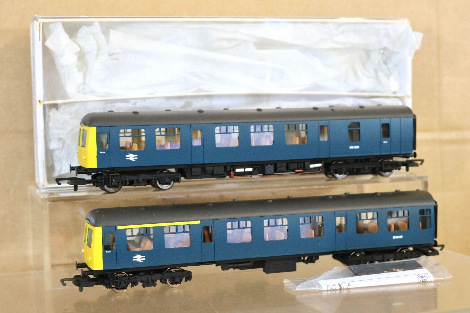 HORNBY plata FOX MODELS KIT BUILT BR azul CLASS 105 DMU LOCO M51296 BOXED np