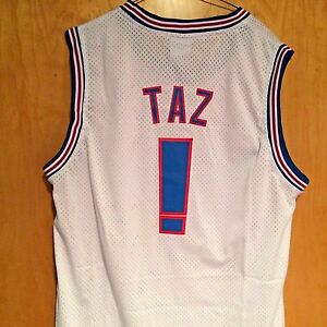 484368de8f1 Taz #! Tazmanian Devil Space Jam Tune Squad Basketball Jersey S M L ...