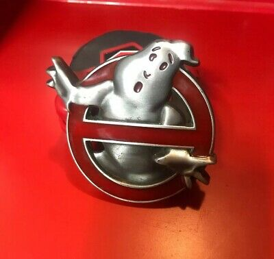 Movie logo Belt Buckle Silver black ♈ COSPLAY gift collectible ♈ Ghostbusters !