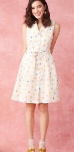 Details about 127  Modcloth Community Brunch Shirt Dress M Travel World  Compass Map Binoculars