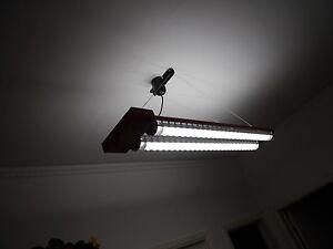 Plafoniere Per Lampade Fluorescenti : Plafoniere in acciaio con lampada fluorescente tre pezzi ebay