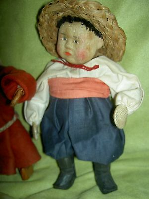 "Russian ""Ukraine"", 1930s labeled cloth doll Soviet Union Russia stockinette USSR"