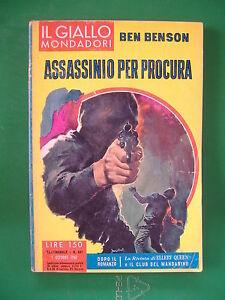 IL-GIALLO-MONDADORI-661-ASSASSINIO-PER-PROCURA-BEN-BENSON-1961