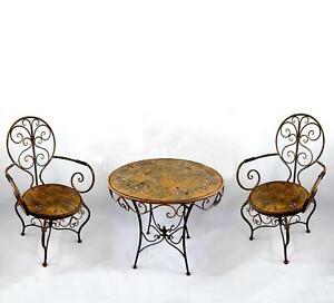Gartenmobel Set Bistroset 1 Tisch 2 Stuhle Armlehnstuhle